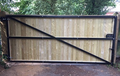 completed gate installation